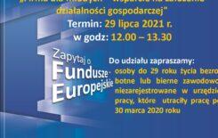 """Więcej o: Punkt Informacyjny Funduszy Europejskich w Jeleniej Górze zaprasza na webinarium """"Firma dla młodych – wsparcie na założenie działalności gospodarczej"""""""